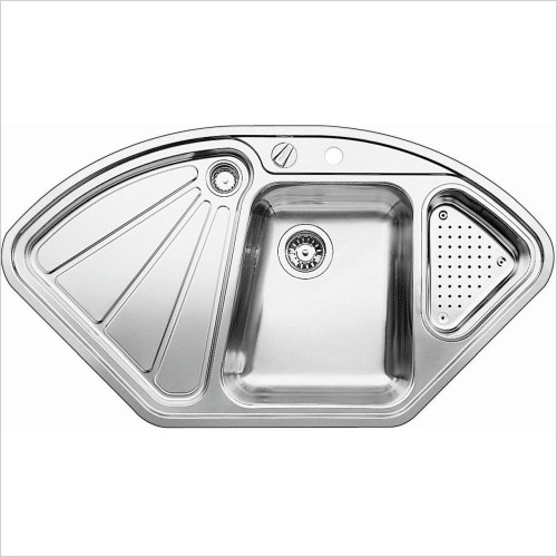 Blanco Sinks - Delta-IF Corner Sink, RH Bowl