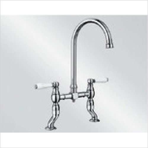 Blanco Taps - Vicus Bridge Twin Lever Bridge Tap