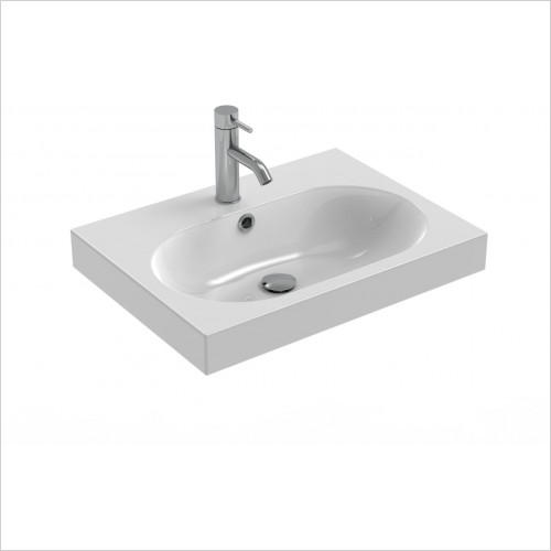 Saneux Basin - Austen 500 x 400mm Washbasin 1TH