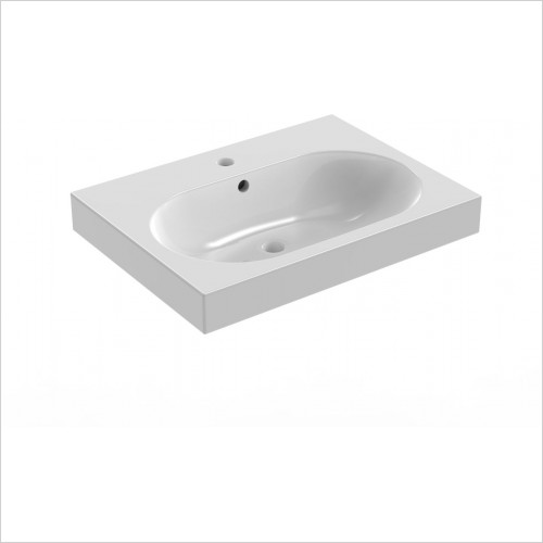 Saneux Basin - Austen 600 x 455mm Washbasin 1TH
