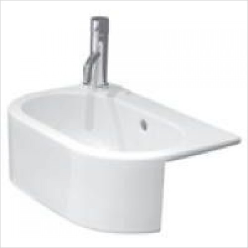 Saneux Basin - Uni 460 x 320mm Semi-Recessed Washbasin LH TH