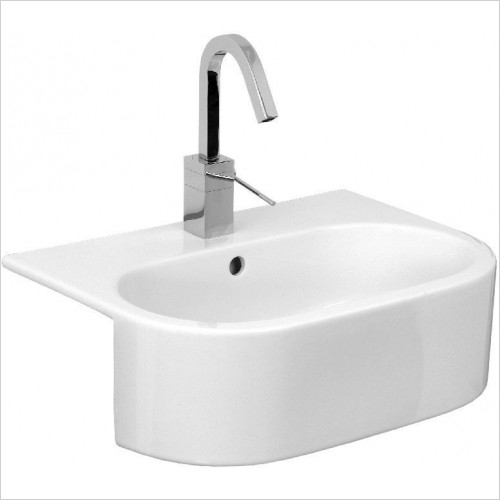 Saneux Basin - Uni Semi-Recessed Washbasin 540 x 400mm 1TH