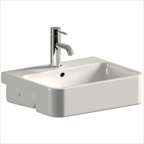 Saneux Basin - Uni 50cm Semi-Recessed Washbasin