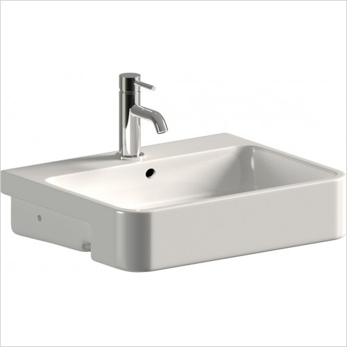 Saneux Basin - Uni 56cm Semi-Recessed Washbasin