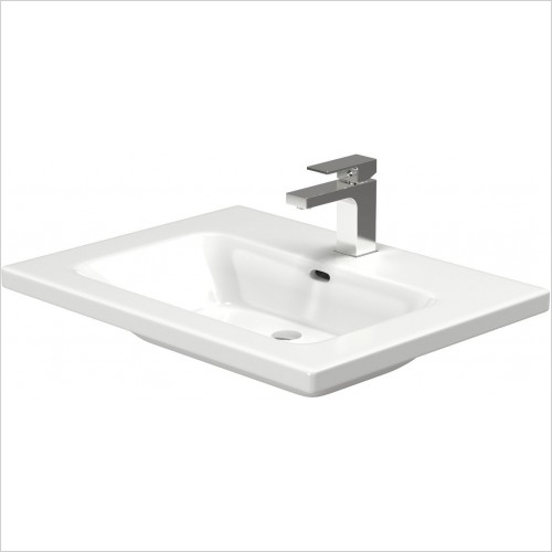 Saneux Basin - Uni Furniture Sqaure Washbasin 600mm