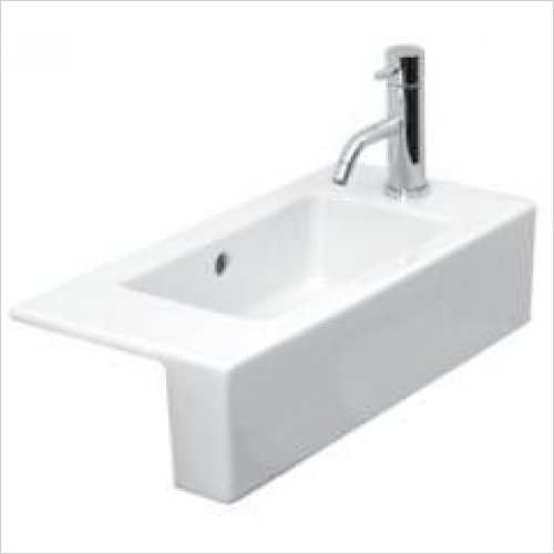 Saneux Basin - Uni 520 x 260mm Semi-Recessed Washbasin RH TH