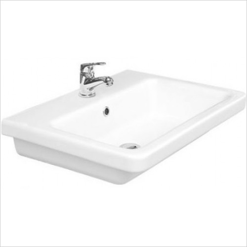 Saneux Basin - Indigo 600mm Washbasin 1TH