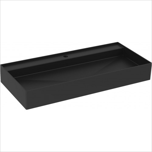 Saneux Basin - Icon 100 x 45cm Vessel Basin 1TH - Sit On Only