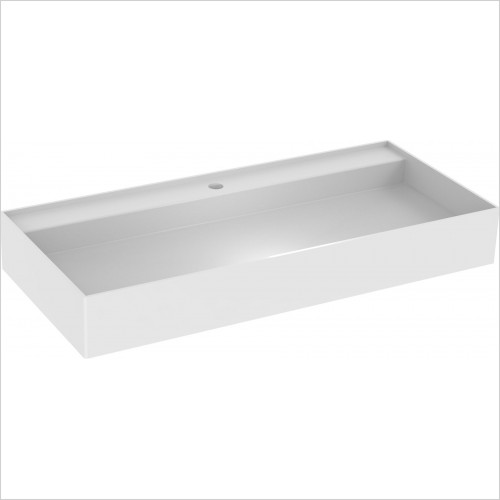 Saneux Basin - Icon 100 x 45cm Vessel Basin 1TH Sit On Only