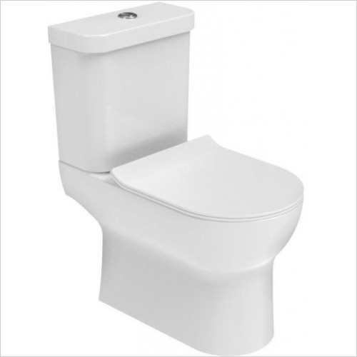 Saneux Toilet - Air WC Pan, Close Coupled, Open Back
