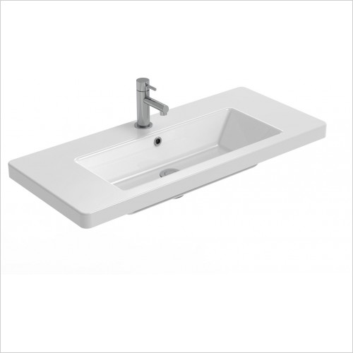 Saneux Basin - Air 800 x 350mm Washbasin 1TH