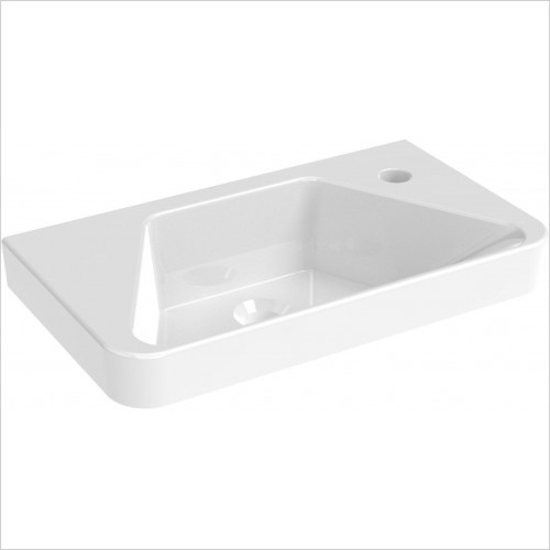 Saneux Furniture - Hyde 50 x 28cm Cloakroom Washbasin Right TH