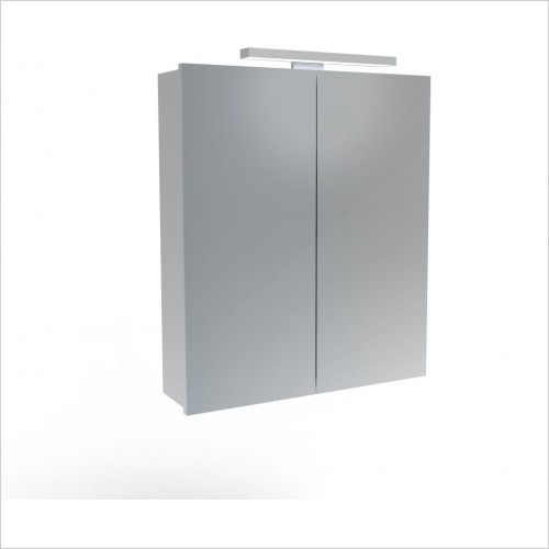 Saneux Mirror Cabinet - Olympus H700 x W600mm (2 Door) Illuminated Cabinet