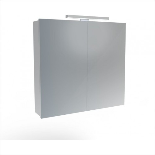 Saneux Mirror Cabinet - Olympus H700 x W750mm (2 Door) Illuminated Cabinet
