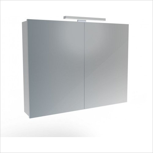 Saneux Mirror Cabinet - Olympus H700 x W900mm (2 Door) Illuminated Cabinet