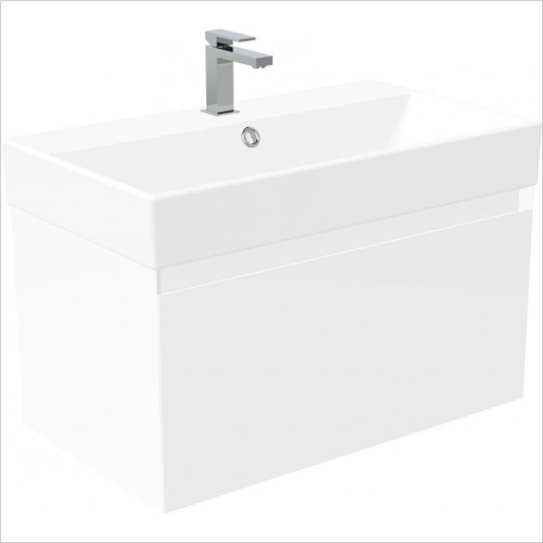 Saneux Furniture - Quadro 80cm Wall Mounted Unit
