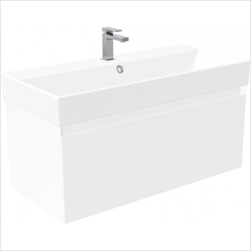 Saneux Furniture - Quadro 100cm Wall Mounted Unit
