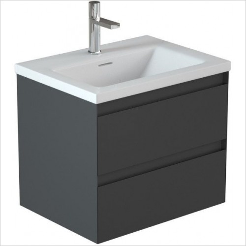 Saneux Furniture - Uni 600mm 2-Drawer Basin Unit