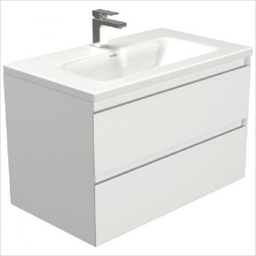 Saneux Furniture - Uni 800mm 2-Drawer Basin Unit