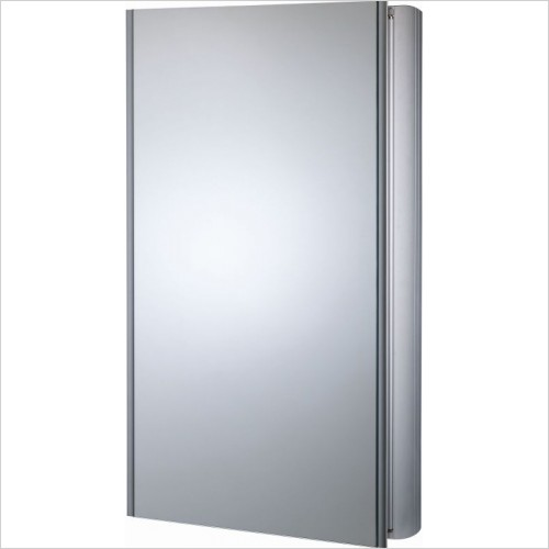 Roper Rhodes Mirror Cabinets - Ascension Limit Slimline Single Mirror Glass Door Cabinet