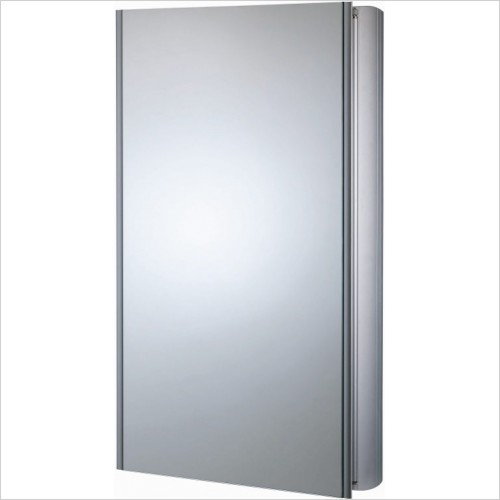 Roper Rhodes Mirror Cabinets - Ascension Refine Slimline Double Mirror Glass Door Cabinet