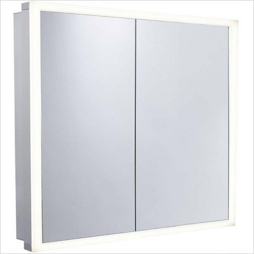 Roper Rhodes Mirror Cabinets - Contrast 2Dr Recess Cabinet Demist USB  1000