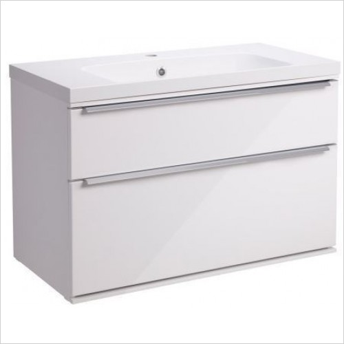 Roper Rhodes Furniture - Scheme 800mm Wall Mounted Double Drawer