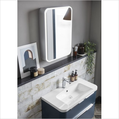 Roper Rhodes Mirror Cabinets - System Cabinet With Demister & Shaver Usb 700x600mm