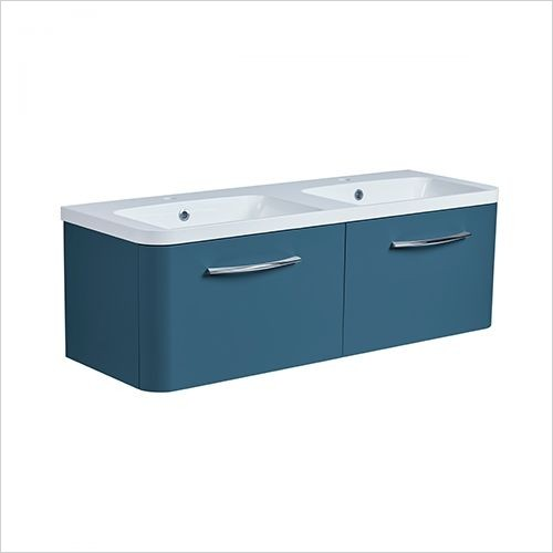 Roper Rhodes Furniture - System 1200mm Wall Mounted Double Drawer Basin Unit