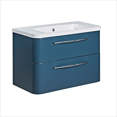 Roper Rhodes Furniture - System 800mm Wall Mounted Double Drawer Basin Unit