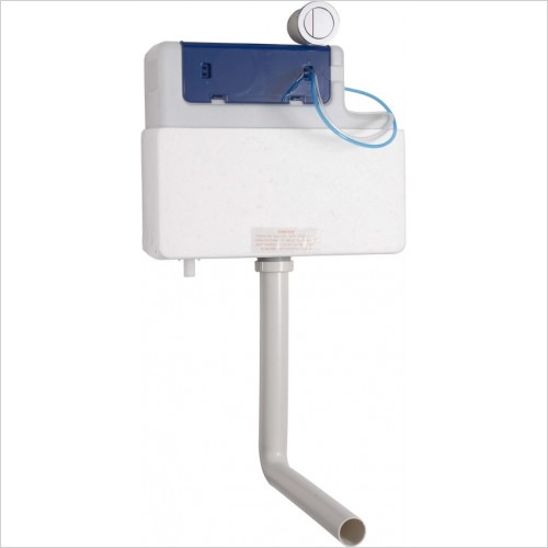 Roper Rhodes toilets - Concealed dual flush cister including round button