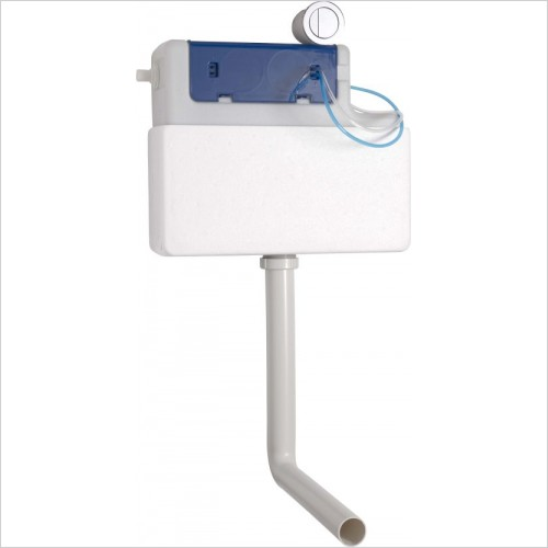 Roper Rhodes toilets - Concealed Dual Flush Cistern with round push button