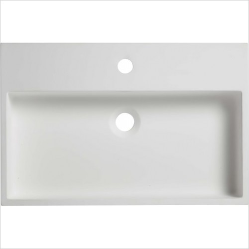 Roper Rhodes Washbasins - Block Rectangle Solid Surface Basin 580 x 380mm