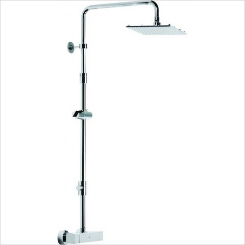 Roper Rhodes Brassware - Adjustable Rigid Riser Rail With Diverter
