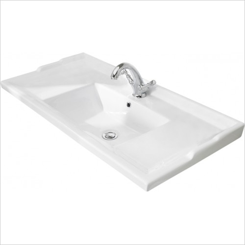 Bayswater Washbasins - 1000mm Traditional Basin, 1 Tap Hole