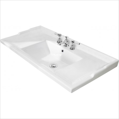 Bayswater Washbasins - 1000mm Traditional Basin, 3 Tap Hole