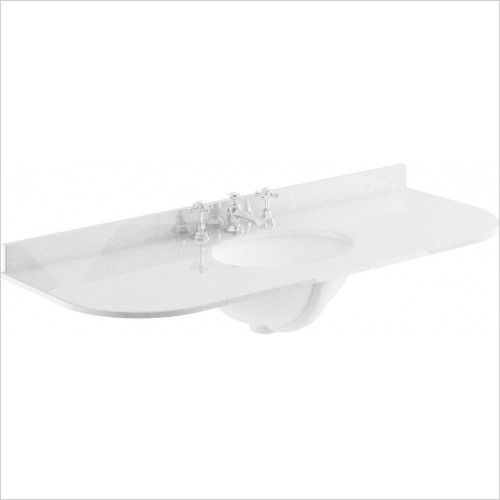 Bayswater Washbasins - 1200mm Single Bowl with Radius