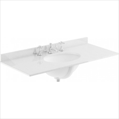 Bayswater Washbasins - 1000mm Single Bowl 3 Tap Hole