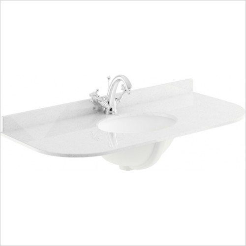 Bayswater Washbasins - 1000mm Single Bowl With Radius 1 Tap Hole