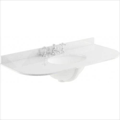 Bayswater Washbasins - 1000mm Single Bowl With Radius 3 Tap Hole