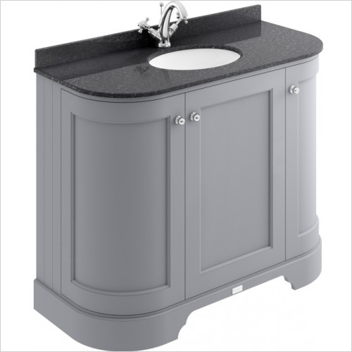 Bayswater Furniture - 1000mm 3-Door Curved Basin Cabinet