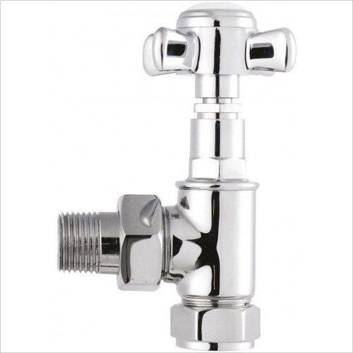 Bayswater Radiatores - Victorian Angled Crosshead Radiator Valves (Pair)