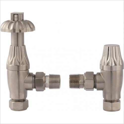 Bayswater Radiatores - Angled Thermo Radiator Valve Comes With Lockshield