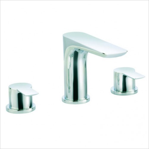 Bathwise brassware - Arc-line 3th basin mixer excluding waste