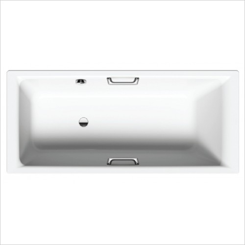 Bathwise Baths - Clean-line II 1700x700mm enamel bath side overflow