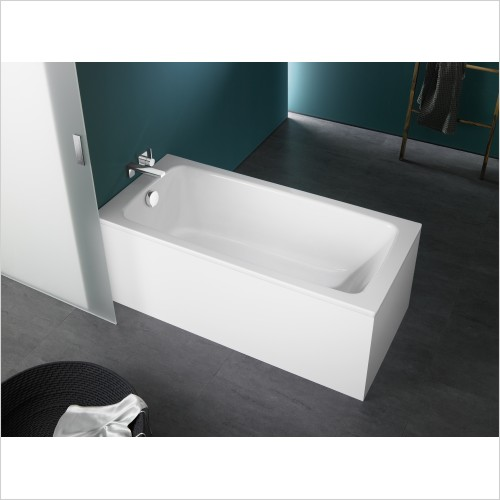 Bathwise Baths - Pure-line 1500x700mm enamel bath central overflow