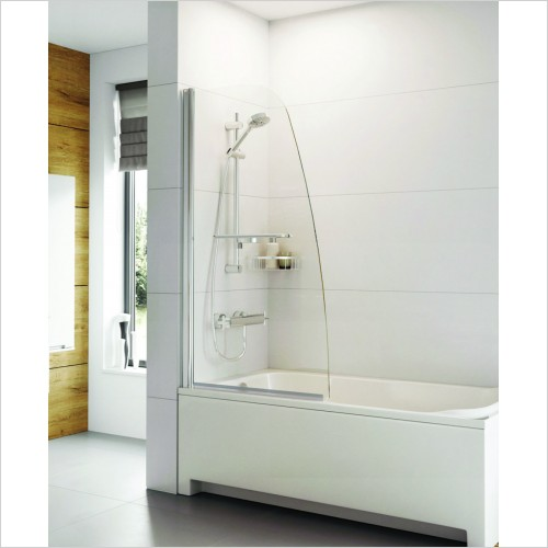 Bathwise Bath Screens - Splash-line single panel bath screen