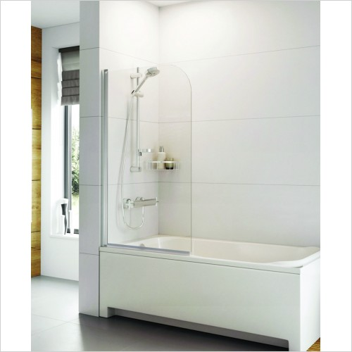 Bathwise Bath Screens - Splash-line single panel curved bath screen