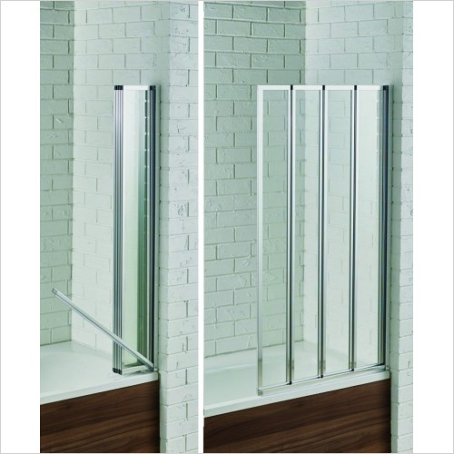 Bathwise Bath Screens - Splash-line 4 fold bath screen with safe seal