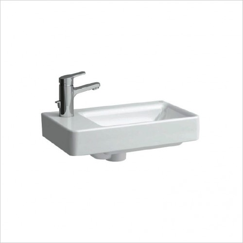 Bathwise Washbasin & Furniture - Flex-line 480x280mm left hand wash basin 1TH